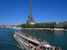 Seine on a Bateau Mouche in Paris