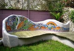 Mosaics are particularly well suited to the outdoors