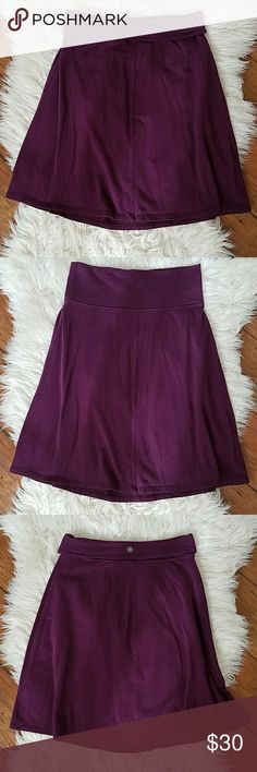 ATHLETA Nusa Rollover Skirt in Plum Purple ATHLETA Nusa Rollover Skirt in Plum Purple. Ultra soft brushed feel, a line fold over skirt by ATHLETA.   Size Small Athleta Skirts