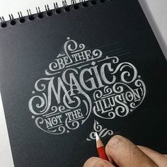Hand lettering by Abed Azarya #sketch #magic #magician #illusion #words #quotes #lettering #brand #typography #illustration #design #ideas #inspirations #drawing #handmadefont #goodtype #typegang #thedailytype ------------------------------------