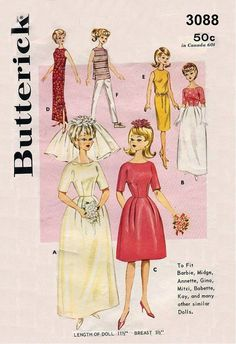 Vintage Doll's Clothes Pattern