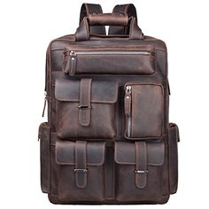 Looking for S-ZONE Vintage Crazy Horse Genuine Leather Backpack Multi Pockets Travel Sports Bag ? Check out our picks for the S-ZONE Vintage Crazy Horse Genuine Leather Backpack Multi Pockets Travel Sports Bag from the popular stores - all in one. Best Leather Backpack, Best Travel Backpack, Travel Bag, Leather Backpacks, Laptop Rucksack, Rucksack Backpack, Vintage Leather, Leather Men, Cowhide Leather