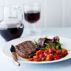This is a super easy and delicious rump steak recipe with a cherry tomato sauce - great for weekend entertaining. Serve with our best roast potatoes recipe. Balsamic Tomatoes Recipe, Roasted Tomatoes, Rump Steak Recipes, Cherry Tomato Sauce, Garlic Sauce, Easy Cooking, Sauce Recipes, Italian Recipes, Dinner Recipes