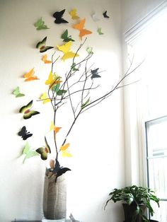 DIY- 3D Butterfly Wall Art