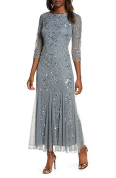 Silver or Gray Mother of the Bride Dresses Silber oder Grau Mutter der Braut Kleider Mother Of Groom Outfits, Mother Of The Bride Fashion, Mother Of The Bride Gown, Mother Of The Bride Dresses Long Sleeve, Mother Of The Bride Clothes, Grooms Mother Dresses, Brides Mom Dress, Mother Bride, Long Mothers Dress