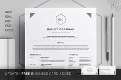 Resume/CV - Bailey by bilmaw creative on @creativemarket