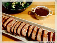 Cotlet de porc marinat in suc de portocale si vin Sushi, Bacon, Meat, Ethnic Recipes, Check, Pork, Pork Belly, Sushi Rolls