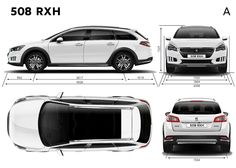 The slightly crossover-ized 508 SW, known as the Peugeot 508 RXH, got a 2014 midlife cycle too, adding small but powerful changes and. Crossover, Peugeot, Cycling, Engineering, Cars, Vehicles, Audio Crossover, Biking, Bicycling