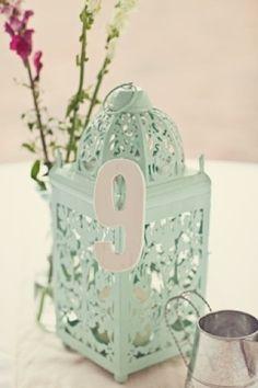 Ideas originales para enumerar las mesas de la boda, de la 1 a la 20