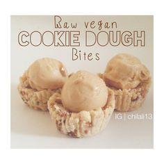 Raw vegan cookie dough bites