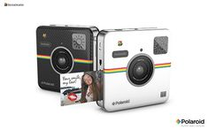 """• 14 MP digital smart camera • Frontal and Rear Camera • 2x3"""" full color images • Fully Connected • Print with ZINK® Zero ink® printing technology • Exclusive QR Mood Assistant™ • Available in white or black"""