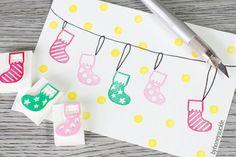 christmas stocking stamp christmas tree ornaments door byhoneysuckle