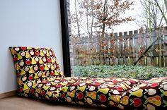 This idea would work great in our window seat or a reading nook for the kids...