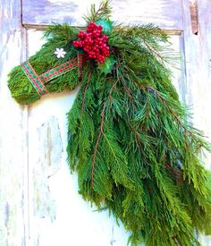 Horse Head Wreath  FRESH Cut Cypress & Pine by WreathUnique, $55.00