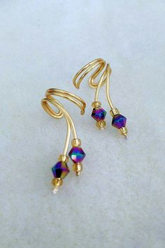 Cuff Pair,Gorgeous Aurora Borealis tiny Crystals Ear Wrap Ear Cuff Pair,Gorgeous Aurora Borealis tiny Crystals Ear WrapBorealis Borealis (Latin for northern or of the north) may refer to: Cuff Jewelry, Cuff Earrings, Beaded Earrings, Beaded Jewelry, Jewelery, Jewelry Accessories, Handmade Jewelry, Jewelry Design, Wire Jewellery