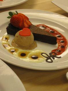 Chocolate Tart Plated Dessert