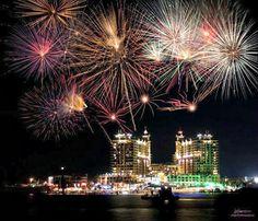 Fireworks over Destin Harbor