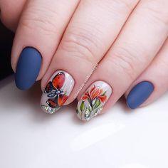 Аппаратный маникюр и покрытие гель-лаком @lovely_nails_professional #051 и #084 Матовый топ тоже Lovely.