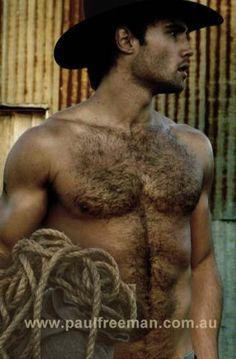 Paul Freeman: Bondi & Outback  i love men with chest hair.