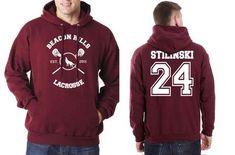 STILINSKI 24 On BACK Beacon hills lacrosse On FRONT Stilinski Stiles Teen Wolf Pullover Hoodie - Meh. Geek - 1