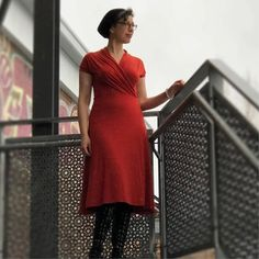 Mirri wrap dress sewing pattern is a classic women's jersey wrap dress PDF sewing pattern The design is fitted to the torso with a slight flare from the hips. Historical Women, Historical Photos, Thing 1, Retro Apron, Dress Sewing Patterns, Apron Patterns, Knot Dress, Viking Woman, Apron Dress