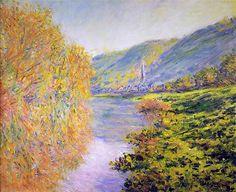 "Claude Monet ""Banks of the Seine at Jenfosse, Autumn"""