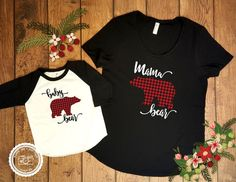 Mama Bear Baby Bear Shirt Set Mommy and Me Set by ClamsAndaHamDog