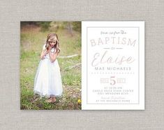 Custom Cards & Party Printables by announcingyou Lds, Baptism Announcement, Baptism Photos, Baptism Invitations, Invites, Custom Cards, Color Correction, Front Design, Party Printables
