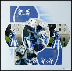 Annevoie et ses costumés vénitiens - En bleu et blanc