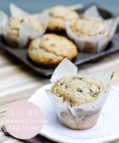 M O D E T T E: On the Menu   Cinnamon Chocolate Chip Muffins