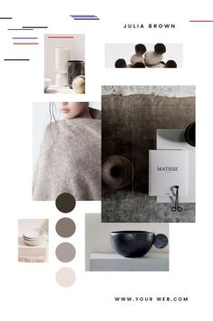 Mood Board Bundle - Inside you'll find 10 easy to edit, fully customisable Moodboard templates, created in PHOTOSHOP and optimised in 2 different sizes for the Fashion Portfolio Layout, Fashion Design Portfolio, Paleta Pantone, Tomboy Stil, Decoration Bedroom, Concept Board, Design Seeds, Neutral Palette, Neutral Colors
