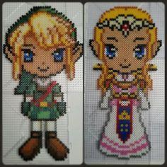 Link and Zelda  perler beads by perler_by_lotta