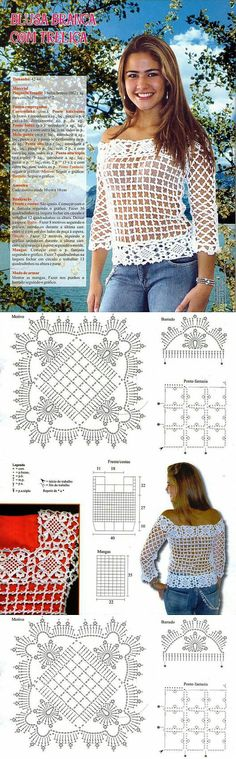 Crochet top and pattern. [] #< | <br/>    Crochet