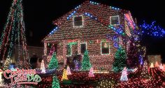 This house is literally covered in Christmas lights. Description from thechristmaslightsdvd.com. I searched for this on bing.com/images