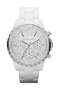 Michael Kors 'Madison' Crystal Bezel Ceramic Watch, 41mm available at #Nordstrom