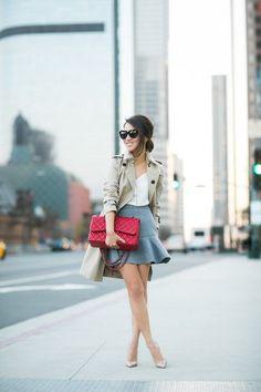 Simple Autumn :: Trench coat & Flute skirt (via Bloglovin.com )
