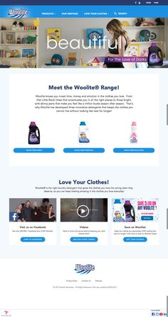 Relaunch of the Global Woolite brand website, based on Design and UX by LOOP and latest RB technology Pink Skinny Jeans, Innovation, It Works, Love You, Technology, Website, News, Clothes, Design