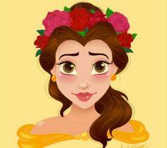Belle, one of my favorite princesses.