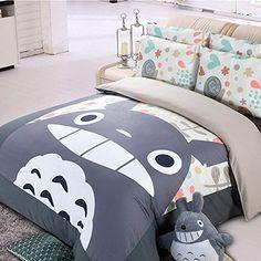 Casofu® Gray Totoro Bedsheet Style Bedding Set, Cartoon Bedding Sets for Kids, Twin/Full/Queen CASOFU http://www.amazon.com/dp/B00ZOUHGRG/ref=cm_sw_r_pi_dp_QRS2vb04PVQFV