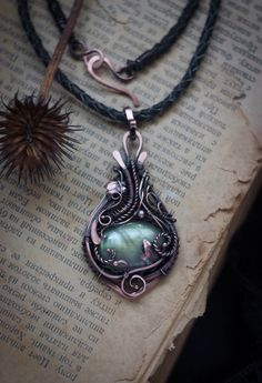 Wire wrapped pendant labradorite necklace Labradorite pendant Copper pendant Wire wrap Copper jewelry Designer jewelry gift for girlfriend by WireAjur on Etsy https://www.etsy.com/listing/265533301/wire-wrapped-pendant-labradorite