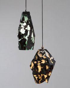 Thaddeus Wolfe . facet assemblage lamps