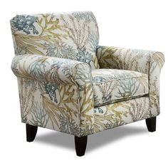 Coryn Fabric Accent Chair Quick Ship Accents