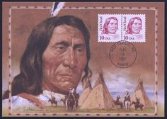United States Scott Aug Red Cloud: Chief of the Oglala Lakota (Sioux) Indians. Red Cloud was instrumental in organizing resistance to the white man's invasion of the Indian homeland by the U. Stamp World, Red Cloud, Christopher Columbus, Love Stamps, Sioux, Instrumental, White Man, Homeland, Organizing