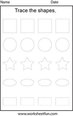 shape tracing templates - preschool daily lesson plan template lesson plan