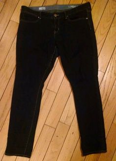 WOMENS GAP 1969 ALWAYS SKINNY DARK WASH JEANS SIZE 32/14R in Clothing, Shoes & Accessories | eBay