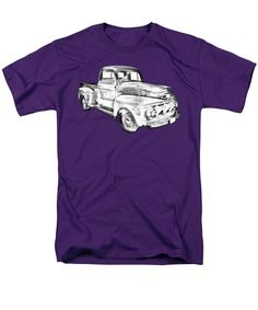 0859751c2 1951 Ford F-1 Pickup Truck Illustration T-Shirt for Sale by Keith Webber Jr
