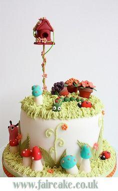 Secret Garden Cake. Lovely Whimsical Cake.
