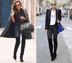 How to Wear Thigh High Boots and Denim