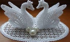Cisnes de crochet