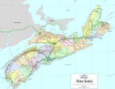 Nova Scotia School Boards Map Maritimes Pinterest Nova scotia